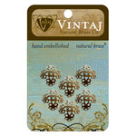 Vintaj Metal Brass Company - Metal Jewelry Hardware - Filigree Bead Caps - Small