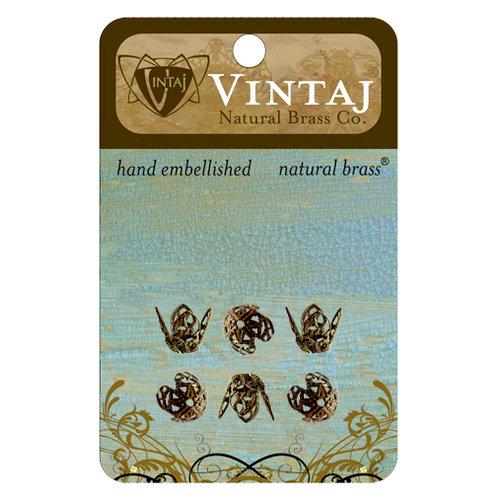 Vintaj Metal Brass Company - Metal Jewelry Hardware - Filigree Bead Caps - Large