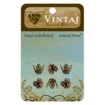 Vintaj Metal Brass Company - Metal Jewelry Hardware - Filigree Bead Caps - Large