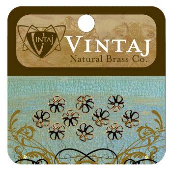 Vintaj Metal Brass Company - Metal Jewelry Hardware - Bead Caps - Blossom