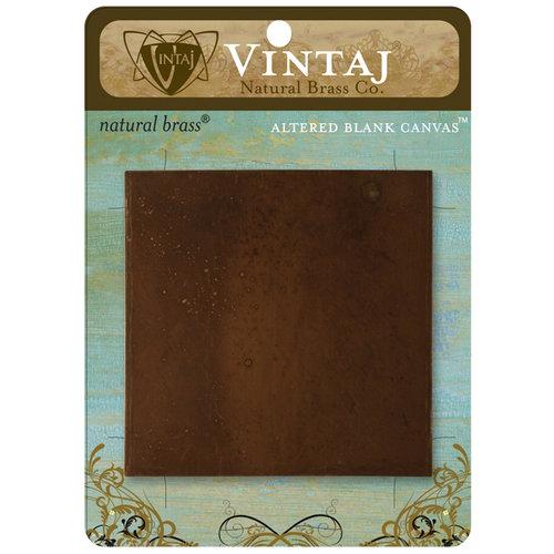Vintaj Metal Brass Company - Metal Altered Blank Canvas - 3 x 3