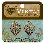 Vintaj Metal Brass Company - Metal Embellishments - Diamond Filigree