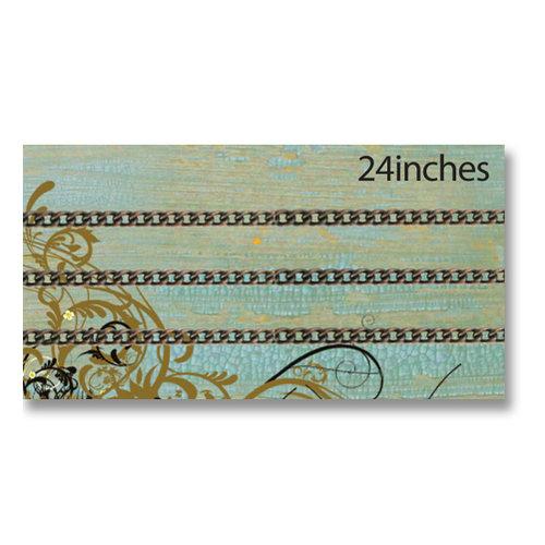 Vintaj Metal Brass Company - Metal Jewelry Chain - Delicate Curb