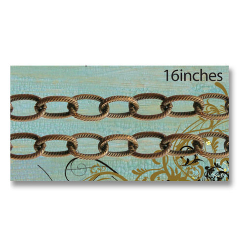 Vintaj Metal Brass Company - Metal Jewelry Chain - Etched Cable
