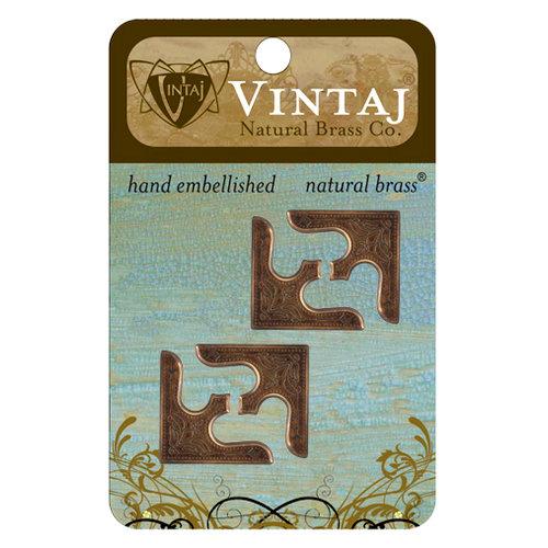 Vintaj Metal Brass Company - Metal Embellishments - Corners - Decor