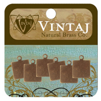 Vintaj Metal Brass Company - Sizzix - Metal Altered Blanks - Square Tag - 9 mm