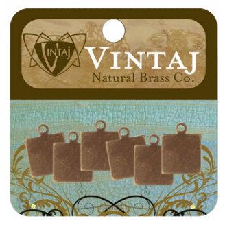 Vintaj Metal Brass Company - Sizzix - Metal Altered Blanks - Square Tag - 9 mm