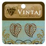 Vintaj Metal Brass Company - Metal Jewelry Charms - Filigree Leaf