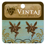 Vintaj Metal Brass Company - Metal Jewelry Charms - Whimsical Fairy