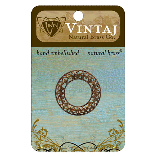 Vintaj Metal Brass Company - Metal Embellishments - Scrolled Filigree Ring