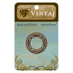 Vintaj Metal Brass Company - Metal Embellishments - Scrolled Filigree Ring