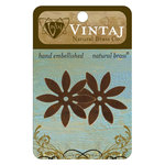 Vintaj Metal Brass Company - Sizzix - Metal Embellishments - Eight Petal Cut Out