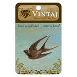 Vintaj Metal Brass Company - Metal Embellishments - Diving Sparrow