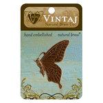 Vintaj Metal Brass Company - Metal Embellishments - Butterfly Profile