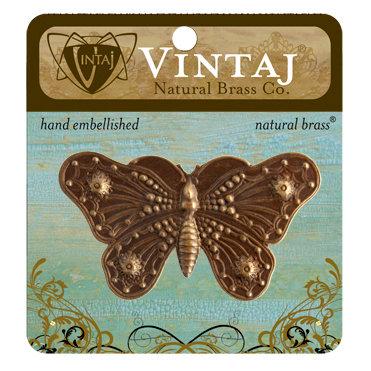 Vintaj Metal Brass Company - Metal Embellishments - Butterfly Grandeur