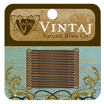 Vintaj Metal Brass Company - Metal Jewelry Hardware - Eye Pin - Short