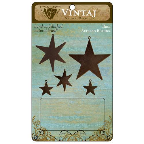 Vintaj Metal Brass Company - Metal Altered Blanks - Stars