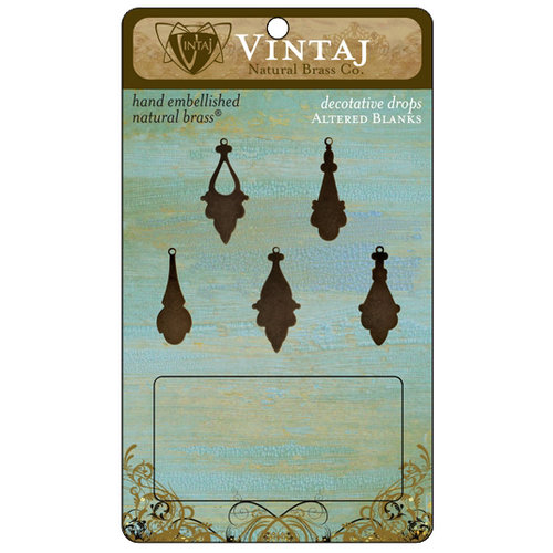 Vintaj Metal Brass Company - Metal Altered Blanks - Decorative Drop