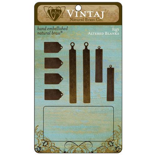 Vintaj Metal Brass Company - Metal Altered Blanks - Tags