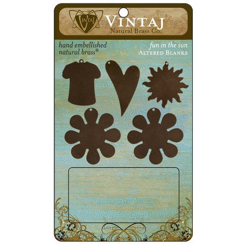 Vintaj Metal Brass Company - Metal Altered Blanks - Fun In The Sun