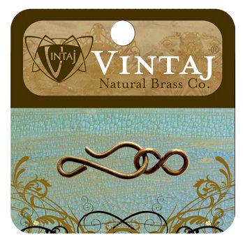 Vintaj Metal Brass Company - Metal Jewelry Hardware - Hook and Eye Clasp