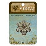 Vintaj Metal Brass Company - Metal Embellishments - Violet Petal Filigree