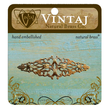 Vintaj Metal Brass Company - Metal Embellishments - Diamond Trellis Filigree
