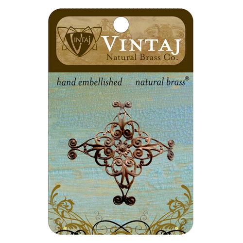 Vintaj Metal Brass Company - Metal Embellishments - Diamond Swirl Filigree