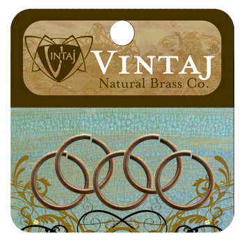 Vintaj Metal Brass Company - Metal Jewelry Hardware - Jump Rings - Large