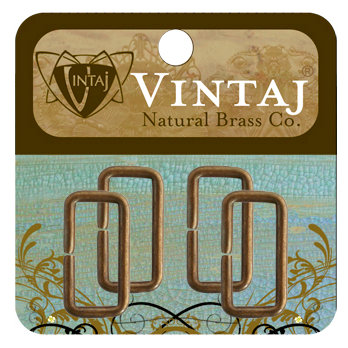 Vintaj Metal Brass Company - Metal Jewelry Hardware - Jump Rings - Rectangle