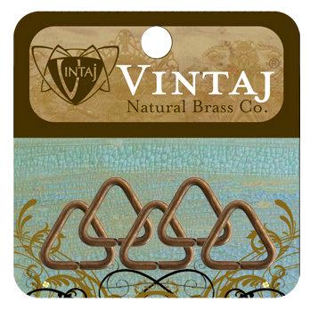 Vintaj Metal Brass Company - Metal Jewelry Hardware - Jump Rings - Triangle