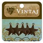 Vintaj Metal Brass Company - Sizzix - Metal Jewelry Charms - Tiny Artisan Star