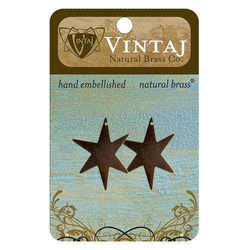 Vintaj Metal Brass Company - Sizzix - Metal Jewelry Charms - North Star