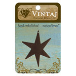 Vintaj Metal Brass Company - Sizzix - Metal Jewelry Charm - Large North Star