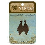 Vintaj Metal Brass Company - Sizzix - Metal Jewelry Charms - Georgian Drop