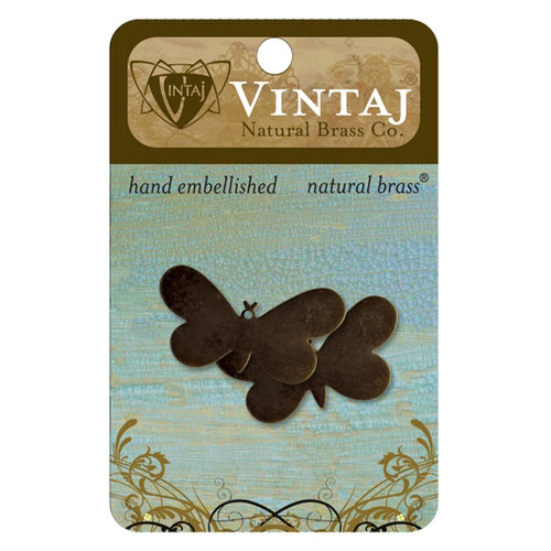 Vintaj Metal Brass Company - Sizzix - Metal Jewelry Charms - Fairy Butterfly