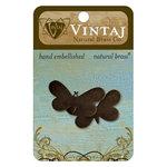 Vintaj Metal Brass Company - Sizzix - Metal Jewelry Charms - Fairy Butterfly
