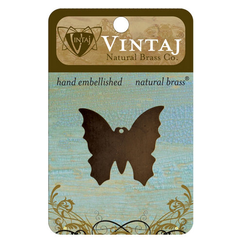 Vintaj Metal Brass Company - Sizzix - Metal Jewelry Charm - Monarch Butterfly