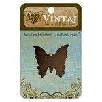 Vintaj Metal Brass Company - Sizzix - Metal Jewelry Charm - Monarch Butterfly