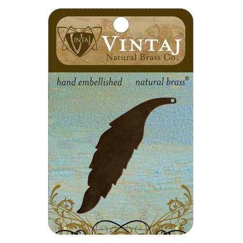Vintaj Metal Brass Company - Sizzix - Metal Jewelry Charm - Slender Leaf