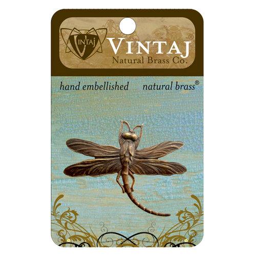 Vintaj Metal Brass Company - Metal Embellishments - Art Deco Dragonfly