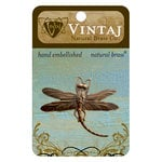 Vintaj Metal Brass Company - Metal Embellishments - Art Deco Dragonfly