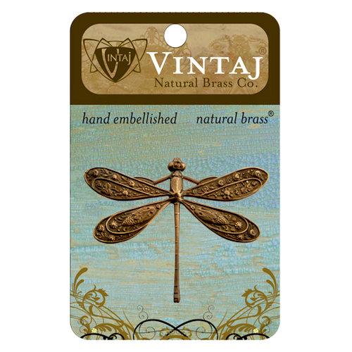 Vintaj Metal Brass Company - Metal Embellishments - Ornate Dragonfly