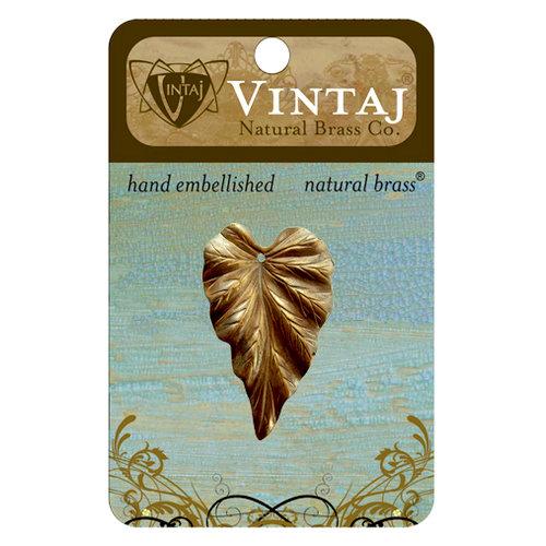 Vintaj Metal Brass Company - Metal Jewelry Charm - Woodland Leaf