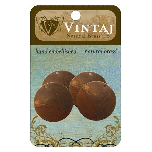 Vintaj Metal Brass Company - Sizzix - Metal Altered Blanks - Small Circle