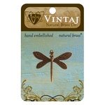 Vintaj Metal Brass Company - Metal Jewelry Charm - Queen Dragonfly