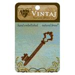 Vintaj Metal Brass Company - Metal Embellishments - Gate Key