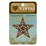 Vintaj Metal Brass Company - Metal Embellishments - Star Trellis
