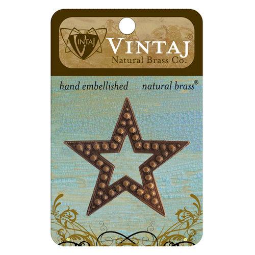 Vintaj Metal Brass Company - Metal Embellishments - Beaded Star