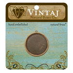 Vintaj Metal Brass Company - Metal Jewelry Charm - Circle Bezel